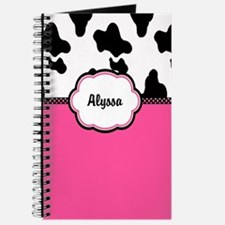 Cow Print Pink Personalized Journal