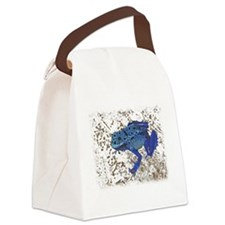Blue Frog Canvas Lunch Bag