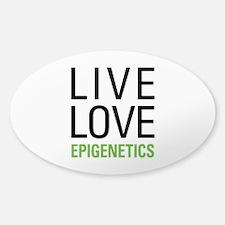 Live Love Epigenetics Sticker (Oval)