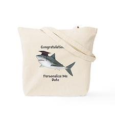 Graduation Shark Tote Bag