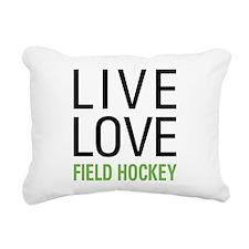Live Love Field Hockey Rectangular Canvas Pillow