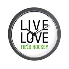 Live Love Field Hockey Wall Clock