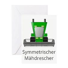 symmetric harvester Greeting Card