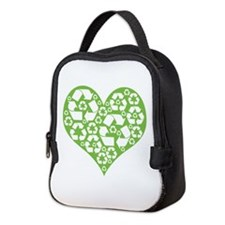 heartrecycle.png Neoprene Lunch Bag