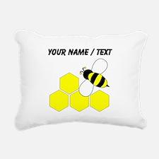 Custom Honeybee Rectangular Canvas Pillow