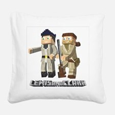 Lewis and Clark - Pixel Art Style Square Canvas Pi