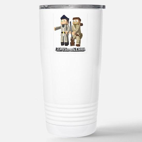 Lewis and Clark - Pixel Art Style Travel Mug
