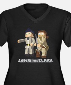 Lewis and Clark - Pixel Art Style Plus Size T-Shir