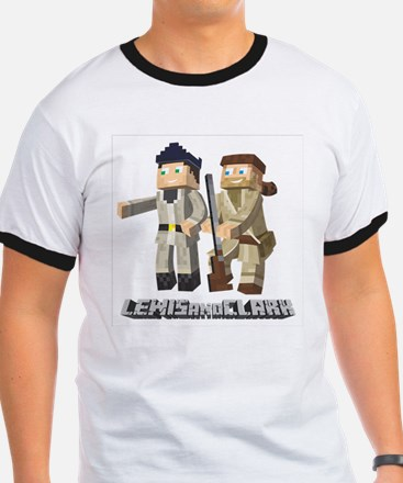 Lewis and Clark - Pixel Art Style T-Shirt