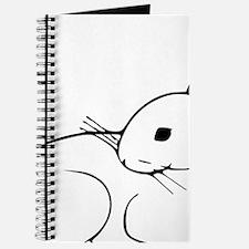 Custom White Bunny Journal
