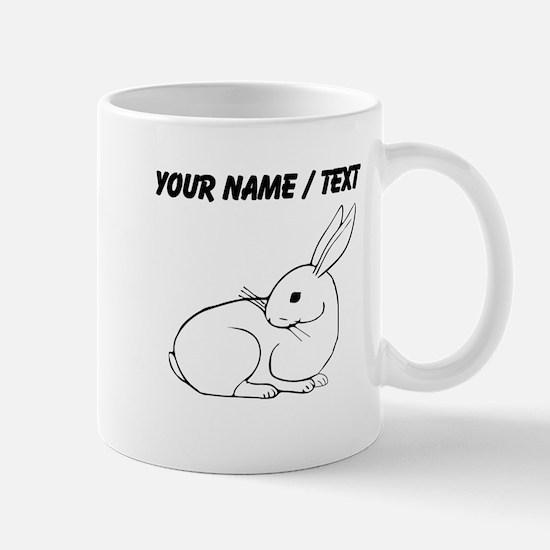 Custom White Bunny Mugs