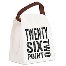 Twenty Six Point Two Marathon Canvas Lunch Bag