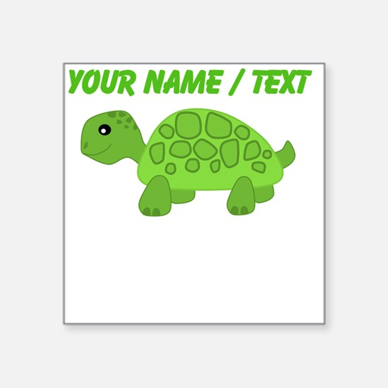 Custom Green Turtle Sticker