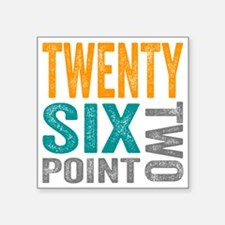 "Twenty Six Point Two Marath Square Sticker 3"" x 3"""