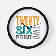Twenty Six Point Two Marathon Motivatio Wall Clock