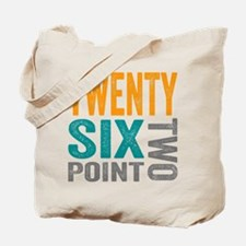 Twenty Six Point Two Marathon Motivation Tote Bag