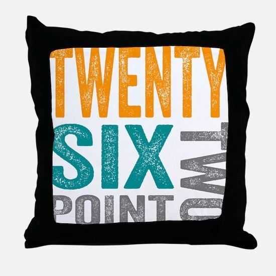 Twenty Six Point Two Marathon Motivation Throw Pil