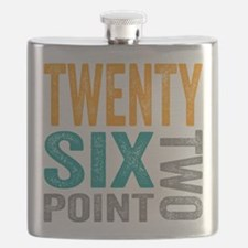 Twenty Six Point Two Marathon Motivation Flask
