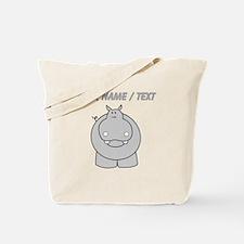 Custom Hippo Tote Bag
