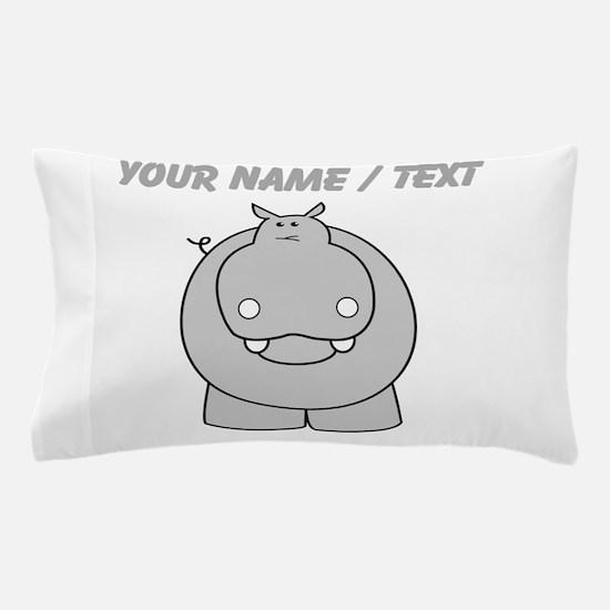 Custom Hippo Pillow Case