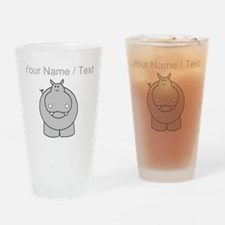 Custom Hippo Drinking Glass