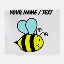 Custom Cartoon Bee Throw Blanket