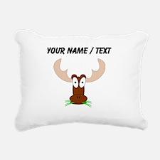 Custom Brown Moose Rectangular Canvas Pillow