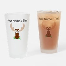 Custom Brown Moose Drinking Glass