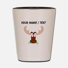 Custom Brown Moose Shot Glass