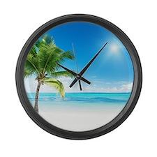 Beautiful Beach Large Wall Clock