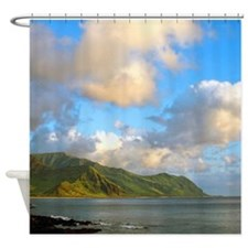 Tropical Sunset Clouds Hawaii Shower Curtain.