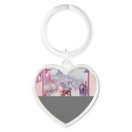 River Cradle Nursery Design Heart Keychain