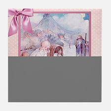 River Cradle Nursery Design Tile Coaster