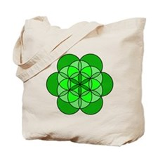 Heart Flower of Life Tote Bag