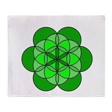 Heart Flower of Life Throw Blanket