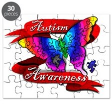 Autism Awareness Butterfly Design Puzzle