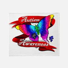 Autism Awareness Butterfly Design Throw Blanket