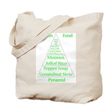 Nigerian Food Pyramid Tote Bag