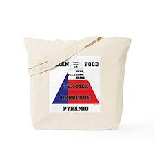 Texan Food Pyramid Tote Bag