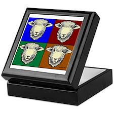Romney Sheep Pop Art Keepsake Box