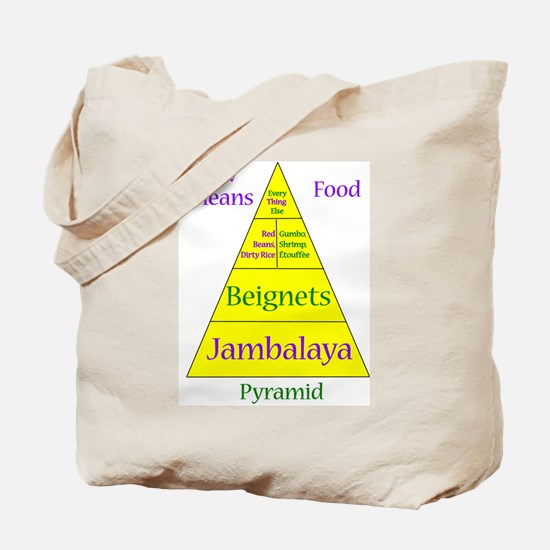 New Orleans Food Pyramid Tote Bag