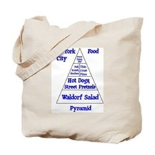 New York City Food Pyramid Tote Bag