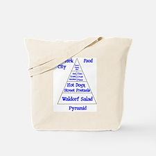 New York City Food Pyramid Tote Bag