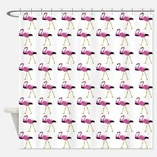 Pink Flamingo Drinking A Martini Shower Curtain