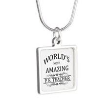 World's Most Amazing P.E. Silver Square Necklace