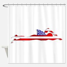 Usa Swimmer Shower Curtain