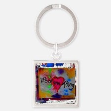 it's a love thing Square Keychain