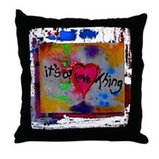 it's a love thing Throw Pillow