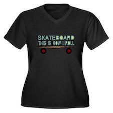 skateboarding Plus Size T-Shirt