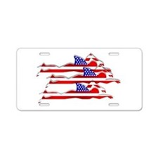 USA Swimming Aluminum License Plate